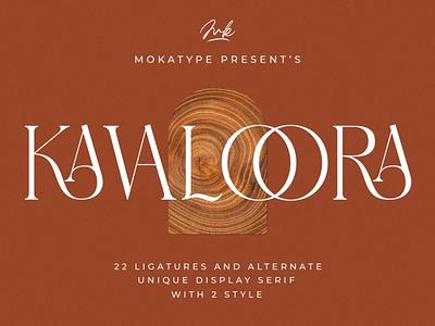 Kavaloora - Stylish Ligatures Font display font stylish magazine fashion display advertising branding logo lettering typography typeface minimalist unique serif sans serif elegant modern classy fonts font
