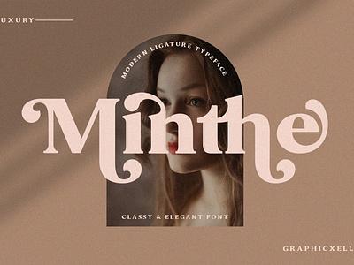 Minthe - Serif Font display font stylish magazine fashion display advertising branding logo lettering typography typeface minimalist unique serif elegant modern classy fonts font sans serif
