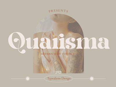 Quarisma - Display Font display font stylish magazine fashion display advertising branding logo lettering typography typeface minimalist unique serif sans serif elegant modern classy fonts font