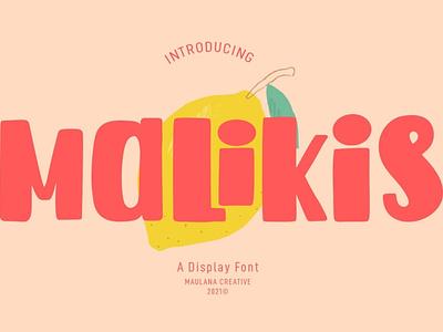 Malikis Display Font serif elegant sans serif fonts logo lettering typographic headline text style symbol sign display graphic typeface typography type design alphabet font