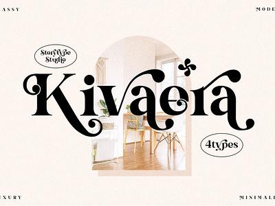 Kivaera Stylish Serif Font display font stylish magazine fashion display advertising barnding logo lettering typography typeface minimalist clean unique serif sans serif elegant modern classy fonts