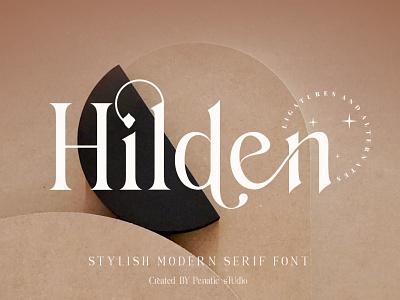 Hilden Font serif display display font stylish magazine fashion advertising branding logo lettering typography typeface minimalist unique sans serif elegant modern classy fonts font