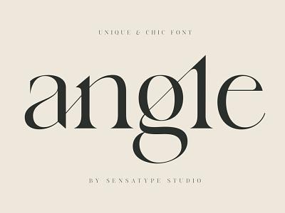 angle - unique & chic font display display fonts stylish magazine fashion advertising branding logo lettering typography typeface minimalist unique serif sans serif elegant modern classy fonts font