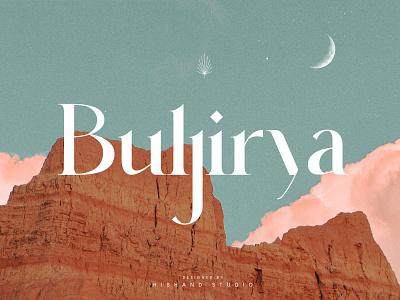 Buljirya Modern Serif Typeface design display font magazine fashion display advertising branding logo lettering typography typeface minimalist unique serif sans serif elegant modern classy fonts font