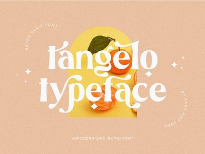 Tangelo - Display Font display font design sytlish simple display advertising branding logo lettering typography typeface minimalist unique serif sans serif elegant modern classy fonts font