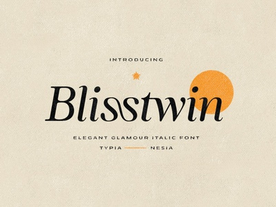 Blisstwin - Elegant Glamour Italic Serif Font display font stylish magazine fashion display advertising branding logo lettering typography typeface minimalist unique serif sans serif elegant modern classy fonts font