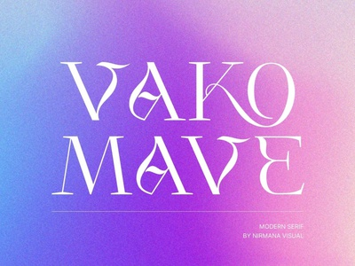 Vako Mave - Logo Font display font stylish magazine fashion display advertising branding logo lettering typography typeface minimalist unique serif sans serif elegant modern classy fonts font