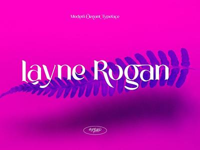Layne Rogan Display Font display font stylish magazine fashion display advertising branding logo lettering typography typeface minimalist unique serif sans serif elegant modern classy fonts font