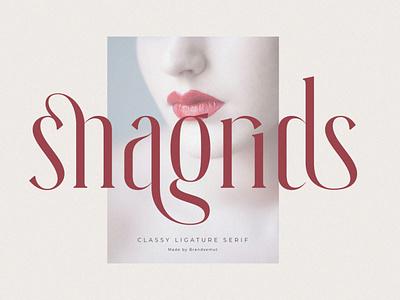 Snagrids || Classy Ligature Serif luxury display font magazine fashion display advertising branding logo lettering typography typeface minimalist unique serif sans serif elegant modern classy fonts font