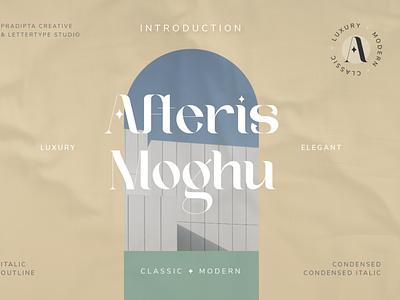 Afteris Moghu Modern/Vintage Font luxury display font magazine fashion display advertising branding logo lettering typography typeface minimalist unique serif sans serif elegant modern classy fonts font