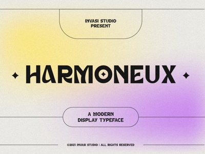 Harmoneux | Modern Display Font luxury display font stylish magazine fashion display advertising branding logo lettering typeface minimalist unique serif sans serif elegant modern classy font fonts