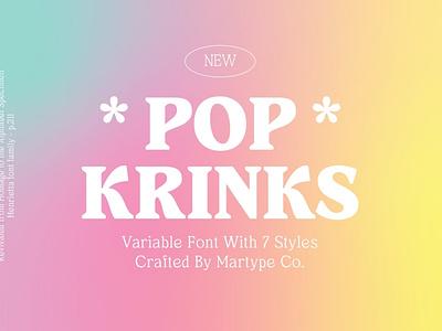 Pop Krinks - Display Font calligraphy display font magazine fashion display advertising branding logo lettering typography typeface minimalist unique serif sans serif elegant modern classy fonts font