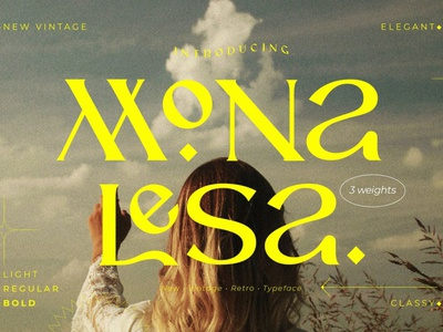 Monalesa - New Vintage Typeface display font stylish magazine fashion display advertising branding logo lettering typography typeface minimalist unique serif sans serif elegant modern classy fonts font