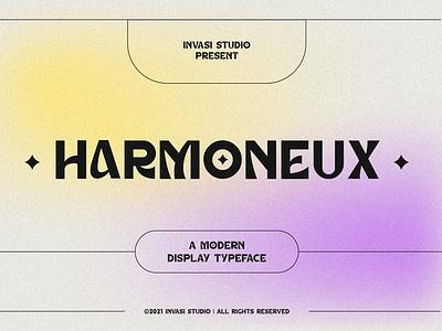 Harmoneux | Modern Display Font luxury display font magazine fashion display advertising branding logo lettering typography typeface minimalist unique serif sans serif elegant modern classy fonts font