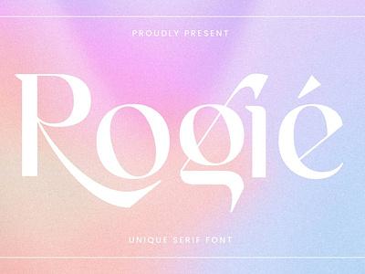 Rogie - Modern Display Serif Font display font stylish magazine fashion display advertising branding logo lettering typography typeface minimalist unique serif sans serif elegant modern classy fonts font