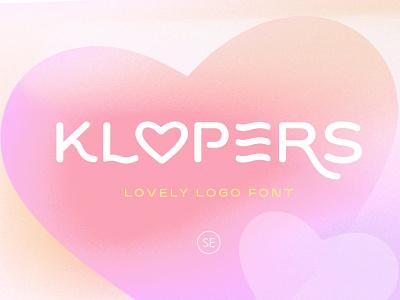 Klopers - Lovely Logo Font display fonts stylish luxury display font display advertising branding logo lettering typography typeface minimalist unique serif sans serif elegant modern classy fonts font
