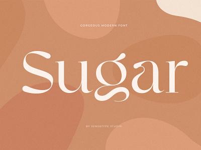Sugar - Gorgeous Modern Font display font stylish magazine fashion display advertising branding logo lettering typography typeface minimalist unique serif sans serif elegant modern classy fonts font