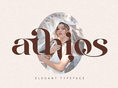 Athios - Elegant Typeface display font stylish magazine fashion display advertising branding logo lettering typography typeface minimalist unique serif sans serif elegant modern classy fonts font