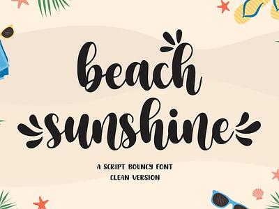 Beach Sunshine - Script Bouncy Font display font stylish magazine fashion display advertising branding logo lettering typography typeface minimalist unique serif sans serif elegant modern classy fonts font