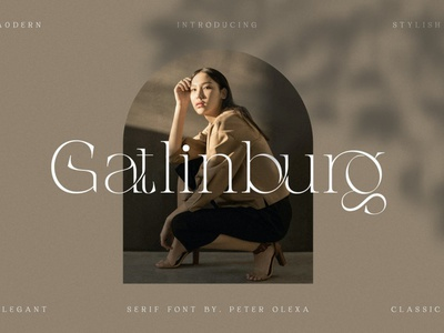Gatlinburg - Modern Serif Font luxury display font stylish magazine fashion display advertising branding logo lettering typeface typography minimalist unique serif sans serif elegant modern classy fonts