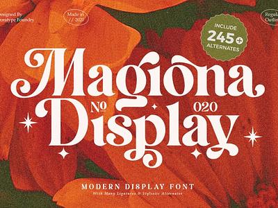 Magiona Display Font typeface fonts collection font design serif fonts sans serif serif font elegant fonts modern fonts branding sans serif font serif logo design professional simple typography display display fonts display font f0nts