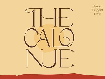 The Calonue - Classic Font design fonts lettering sans serif display logo classy font stylish romantic ligatures decorative feminine branding elegant fashion luxury popular wedding serif