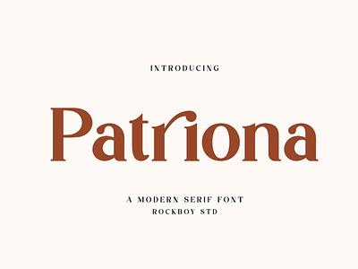 Patriona - Premium Font sans serif font typeface typography lettering beauty elegant classy vintage font modern web wedding display logo fonts serif sans serif design premium font premium fonts
