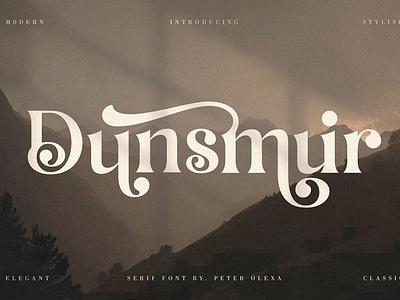 Dunsmuir - Modern Premium Font lettering fonts sans serif display luxury stylish elegant swirls bold decorative vintage retro branding logo headline header typography typeface serif