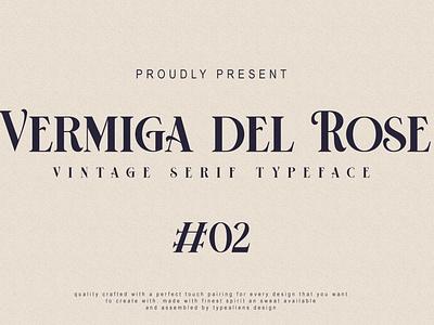 Vermiga del Rose - Premium Font lettering sans serif fonts logo display headline font type vermiga del rose ilhamtaro design creative clean font simple font elegant font serif font vintage font typography text typeface font