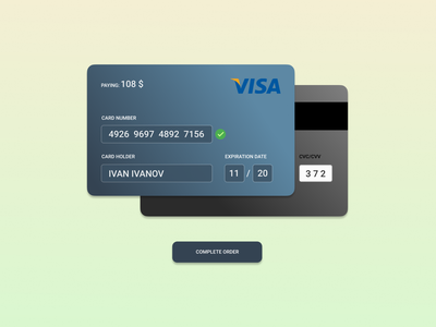 Daily UI 002 - Credit Card Checkout web paying visa dailyui ux ui shop design concept