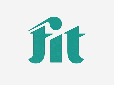Fit Or Tit fit concept branding logo typography custom lettering