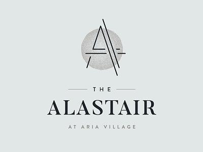 The Alastair serif lockup brand logo branding real estate apartment alastair