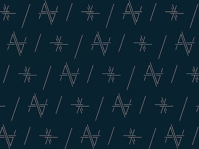 The Alastair Pattern navy linear typography pattern