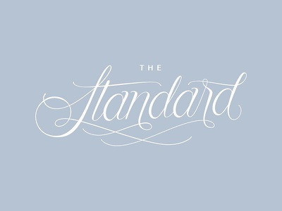 The Standard typography custom hand lettering branding lettering