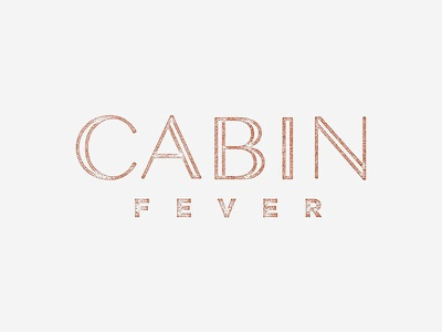 Cabin Fever cabin fever texture type typography