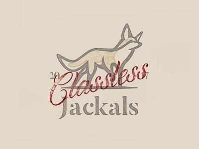 Classless Jackals branding logo fox illustration stamp classless jackal jackals