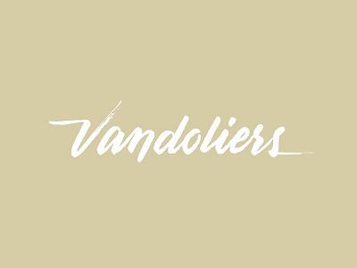 Vandoliers brush script branding lettering hand lettering vandoliers script brush logo