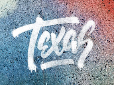 Texas Spray Paint paint drip script tagged graffiti tag typography custom lettering spray paint