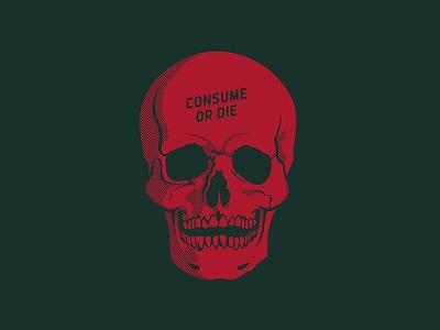 Consume Or Die holiday christmas skull die consume