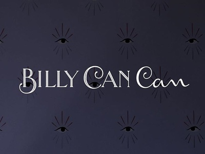 Billy Can Can typography custom hand lettering branding lettering vintage french