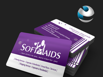 Business Cards Design for Softmaids graphicsdesign adobe photoshop business card branding