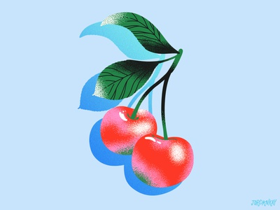Cherries & Texture gradient fruit illustration illustration cherry campaign packaging editorial flavor flavor cue summer fruit drawings food texture drawing food illustration cherries