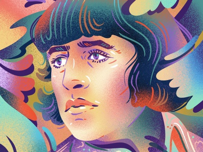 Ringo Starr portrait beatles the beatles psychedelic rainbow spray noise gradient texture editorial illustration illustration ringo starr ringo