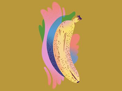 Ripe Banana editorial illustration texture spot illustration jordan kay msjordankay splash fruit illustration food illustration ripe banana drawing fruit illustration fruit drawing banana