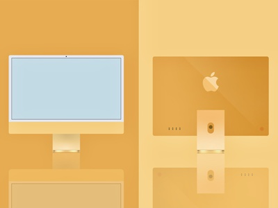 iMac illustration 🖥 branding graphic design design vector illustrator illustration