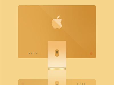 iMac Back branding graphic design design vector illustrator illustration