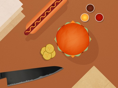 Food Illustration scene hotdog burger food graphic design design vector illustrator illustration