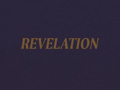 Revelation Main Title illustrator vector branding design graphic design typography