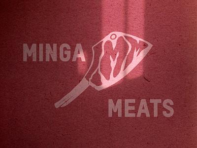 MINGA MEATS BRANDING 1/2 logodesign brand identity brand typography logo branding vector illustrator illustration graphic design design