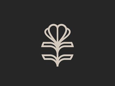 PANNA logo concept heart flower logo design logodesign typography branding logo vector illustrator illustration graphic design design